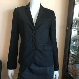 J. Crew Black Wool Blend 3 Button Blazer Size 4